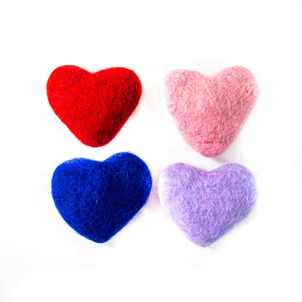 Dharma Dog Karma Cat Pack of 4 Hearts Toy For Cats
