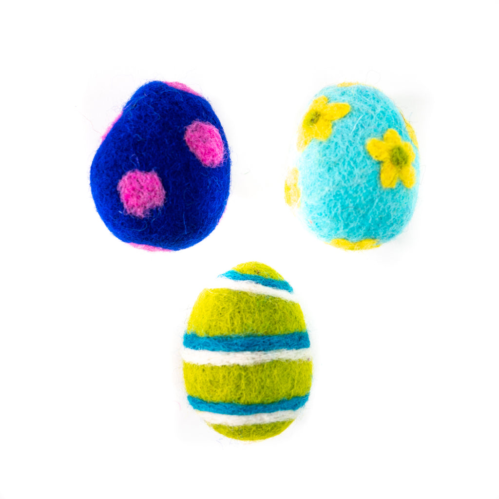 Dharma Dog Karma Cat Pack of 3 Easter Egg Toy For Cats