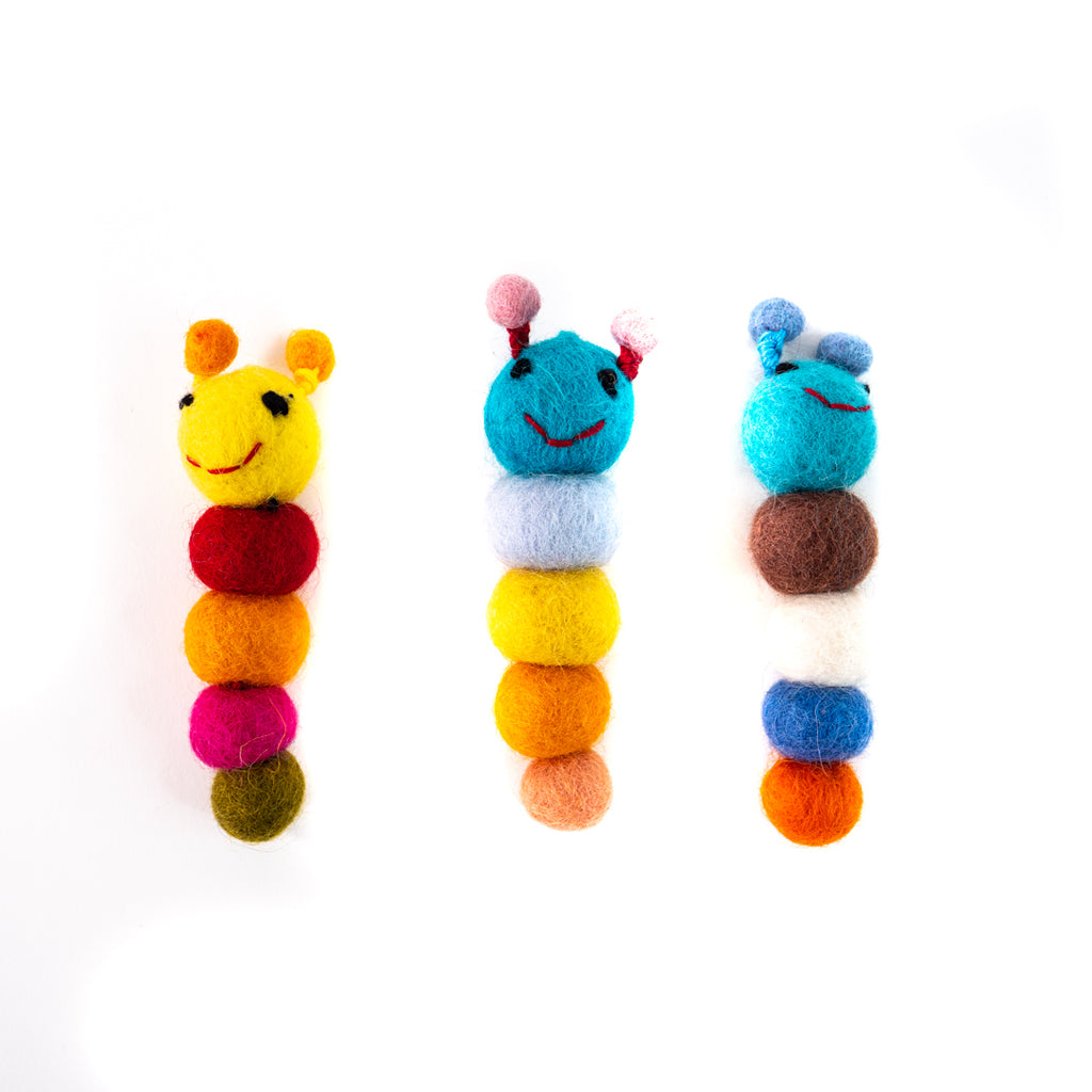 Dharma Dog Karma Cat Pack of 3 Catepillar Toy For Cats