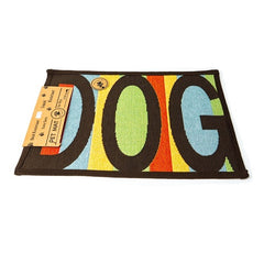 PB Paws & Co. Tapestry Pet Mats, Dog Message Pattern (Multicolor) | Singpet.Com
