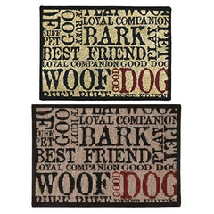 PB Paws & Co. Tapestry Pet Mats, Good Dog Pattern