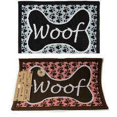 PB Paws & Co. Tapestry Pet Mats, Woof Pattern