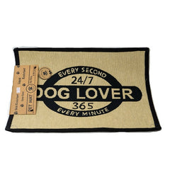 PB Paws & Co. Tapestry Pet Mats, Dog Lover Pattern (Black) | Singpet.Com