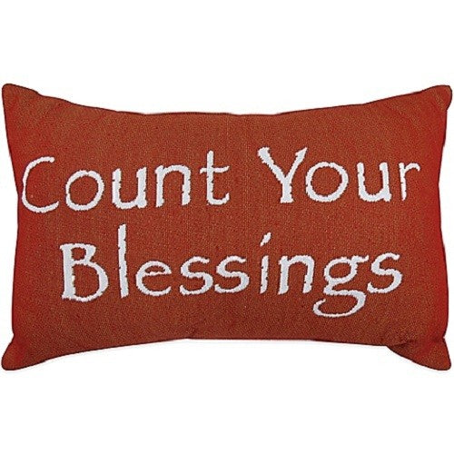 Park B. Smith Vintage House Pillow, Count Your Blessings Pattern