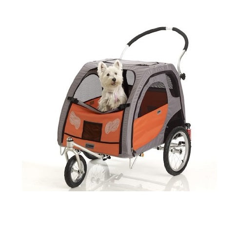 Petego Comfort Wagon Bicycle Trailer With Stroller Conversion Kit For Pet Mobility