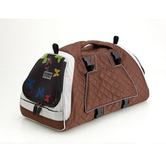 Petego Jet Set Forma Frame Carrier for Small Dogs, Cats & Other Small Animals, (Silver/Brown) | Singpet.Com.Sg