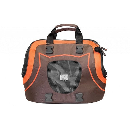 Petego Infinita Universal Sport Bag Pet Carrier, Brown/Orange | Singpet.Com.Sg