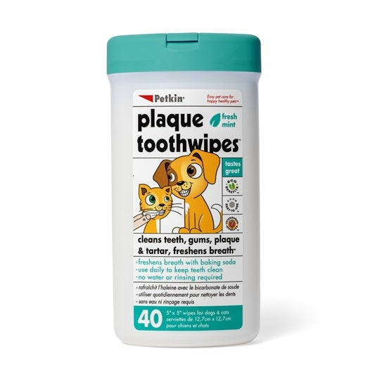 Petkin Plaque Toothwipes For Dogs & Cats | Singpet.Com