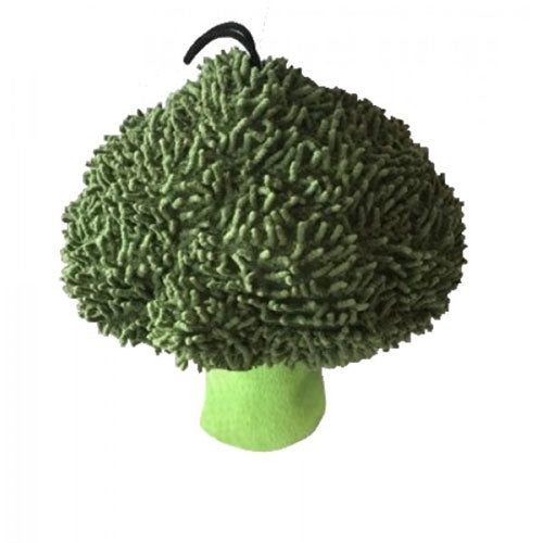 "Petlou Plush 7"" Broccoli Dog Toy 