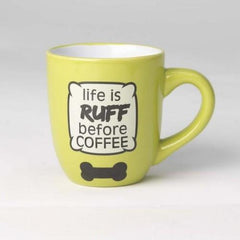 Petrageous Life is Ruff Mug , Lime Green | Singpet.Com.Sg