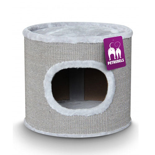 Petrebels Scratching barrel Champions Only Dome 40 - Grey | Singpet.Com