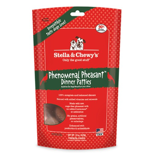 Stella & Chewy's Phenomenal Pheasant Freeze-Dried Dinner Patties For Dogs