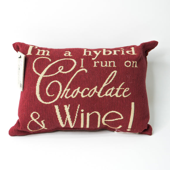 Park B. Smith Vintage House Pillow, Chocolate & Wine.. Pattern