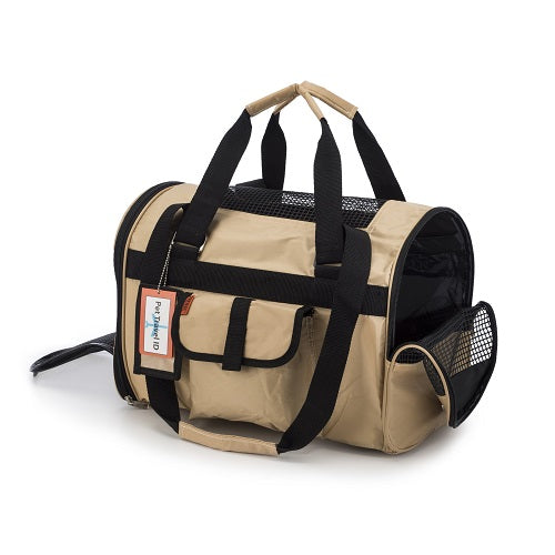 Prefer Pets Jet Travel Carriers For Dogs & Cats (Khaki / Brown) | Singpet.Com.Sg