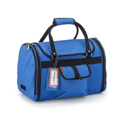 Prefer Pets Privacy Duffel Carrier For Dogs, Cats & Other Small Animals (Blue) | Singpet.COM