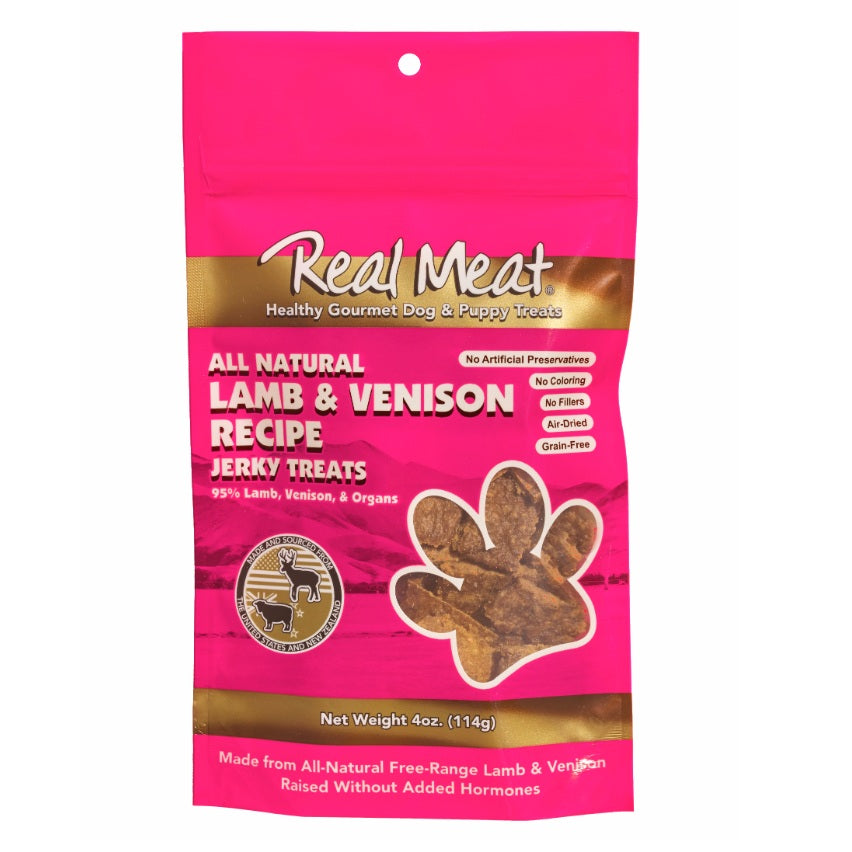 Real Meat All Natural Lamb & Venison Recipe Jerky Treats For Dogs | Singpet.Com