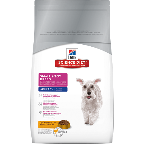 Hills Science Diet Mature Adult Small & Toy Breed Chicken Meal Rice & Barley Recipe Dry Dog Food | Singpet.COM