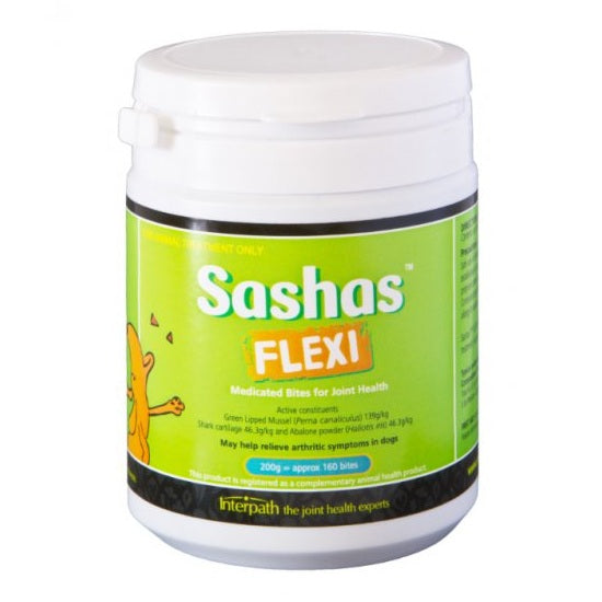 Sashas FLEXI Medicated Bites for Dogs Joint Health | Singpet.Com