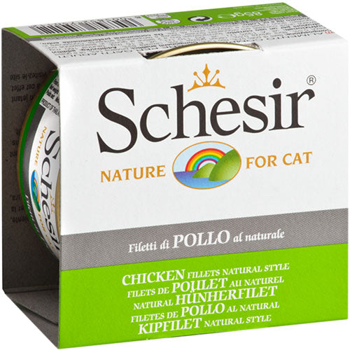 Schesir Chicken Fillets Natural Style In Cooking Water Canned Cat Food | Singpet.Com