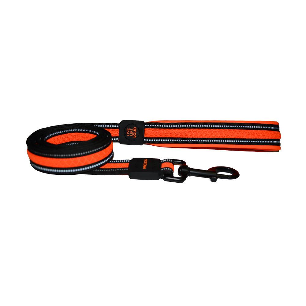 Scream Reflective Padded Leash Loud Orange for Dogs | Singpet.Com
