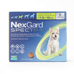 NexGard Spectra Chews Medium Dogs 7.5-15 kg (16-33 lbs) | Singpet.COM