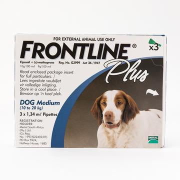 Frontline Plus Medium Dogs 10-20 kg (23-44 lbs) | Singpet.Com.Sg