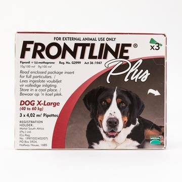 Frontline Plus For X-Large Dogs 40-60 kg (88-132 lbs) | Singpet.Com.Sg