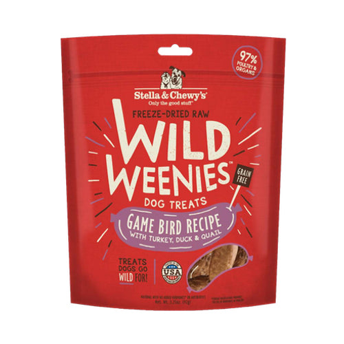 Stella & Chewy's Game Bird Recipe Freeze Dried Wild Weenies Treat For Dogs | Singpet.COM