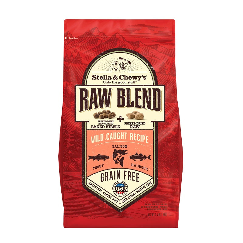 Stella & Chewy's Free Range Wild Caught Recipe Raw Blend Baked Kibble For Dogs | Singpet.Com