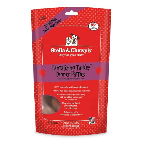 Stella & Chewy's Tantalizing Turkey Dinner Patties For Dogs | Singpet.Com.Sg