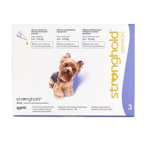 Clearance !! Stronghold (Revolution) Spot-on For Dogs 2.6-5 kg
