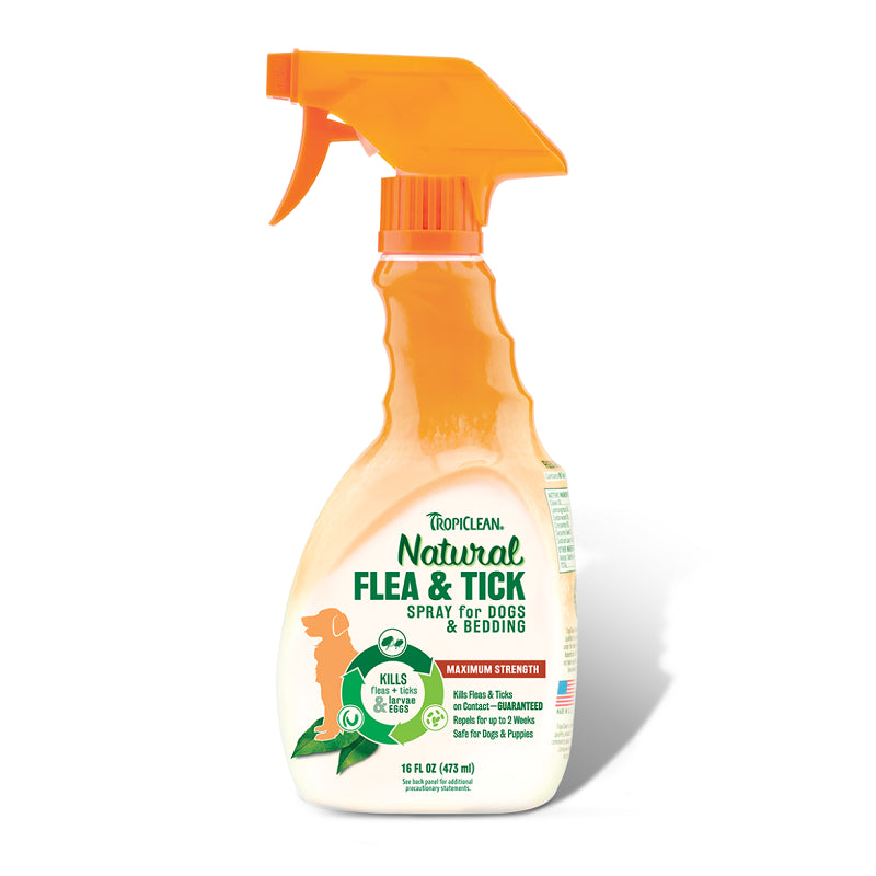 Tropiclean Natural Flea & Tick Spray For Pets | Singpet.Com