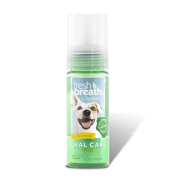 Tropiclean Fresh Breath Mint Foam For Dogs | Singpet.Com