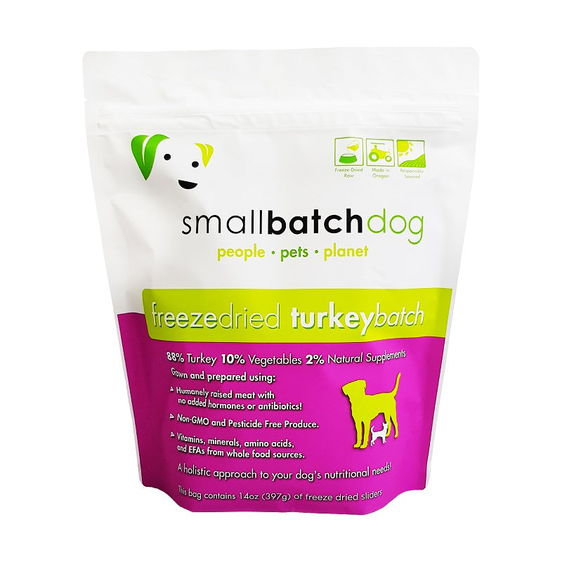 Smallbatch Freeze Dried Turkey Sliders Dog Food | Singpet.Com