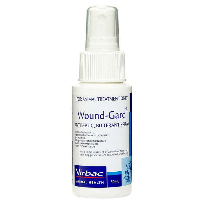 Virbac Wound-Gard Antiseptic, Bitterant Spray For Dogs & Cats