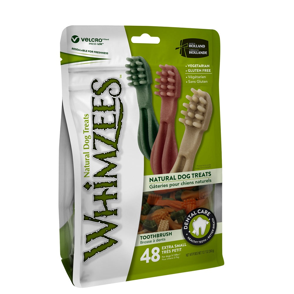 Whimzees Dental Dog Treats, Toothbrush