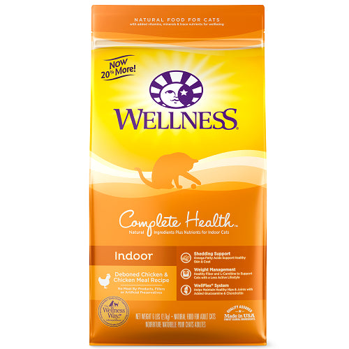 Wellness Complete Health Indoor Deboned Chicken & Chicken Meal Recipe Dry Cat Food | Singpet.COM