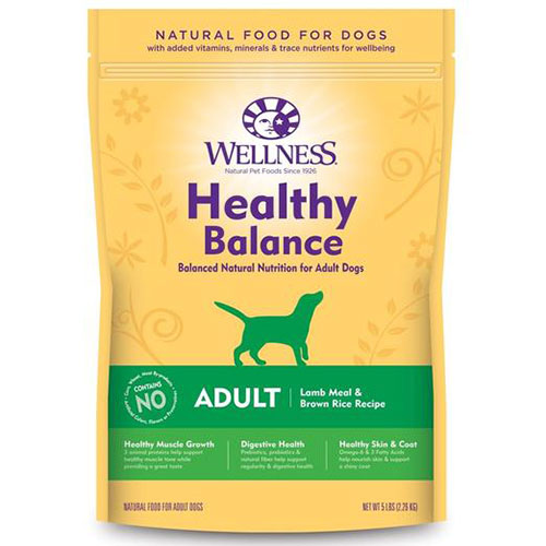 Wellness Healthy Balance Adult Lamb Meal & Brown Rice Recipe Dry Dog Food | Singpet.Com