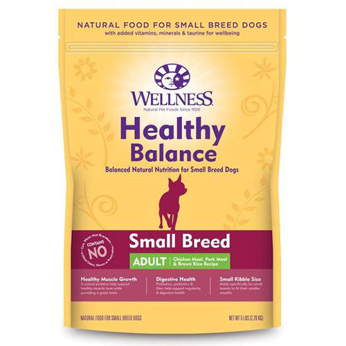 Wellness Healthy Balance Small Breed Adult Chicken Meal, Pork Meal & Brown Rice Recipe Dry Dog Food | Singpet.Com