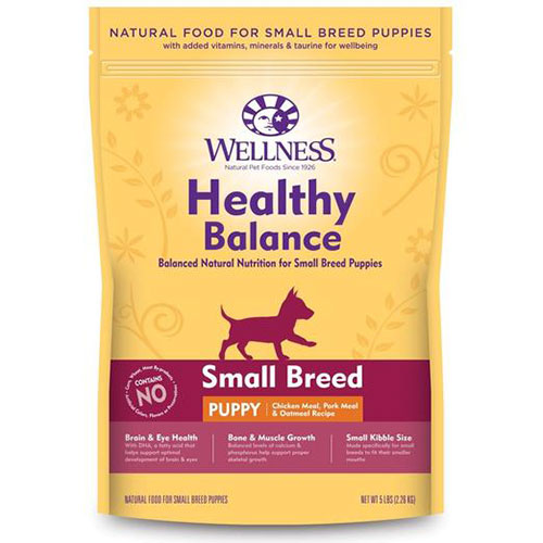 Wellness Healthy Balance Small Breed Puppy Chicken Meal, Pork Meal & Oatmeal Recipe Dry Dog Food | Singpet.Com