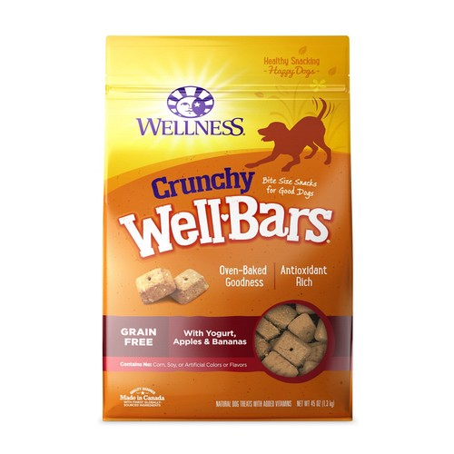Wellness Wellbar Crunchy Yogurt, Apples & Bananas Dog Treats  | Singpet.COM