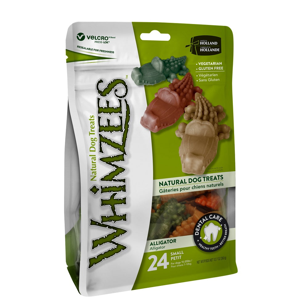 Whimzees Dental Dog Treats, Alligator