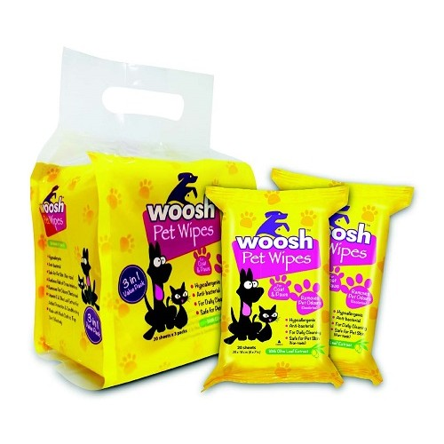 Woosh Deodorizing Pet Wipes | Singpet.COM