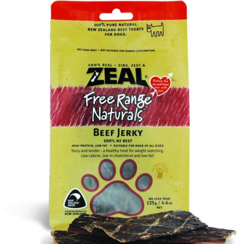 Zeal Free Range Naturals Dried Beef Jerky - Dog Treats|Singpet.COM