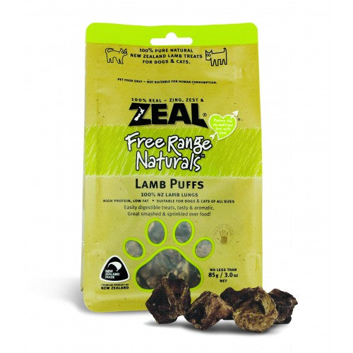 Zeal Free Range Naturals Dried Lamb Puffs - Treats For Dogs & Cats|Singpet.COM