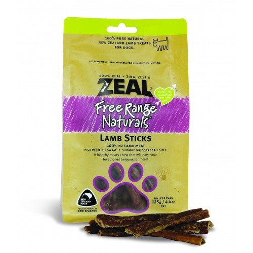 Zeal Free Range Naturals Dried Lamb Sticks - Dog Treats|Singpet.COM