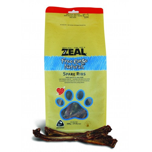Zeal Free Range Naturals Dried Spare Ribs Dog Treats|Singpet.COM