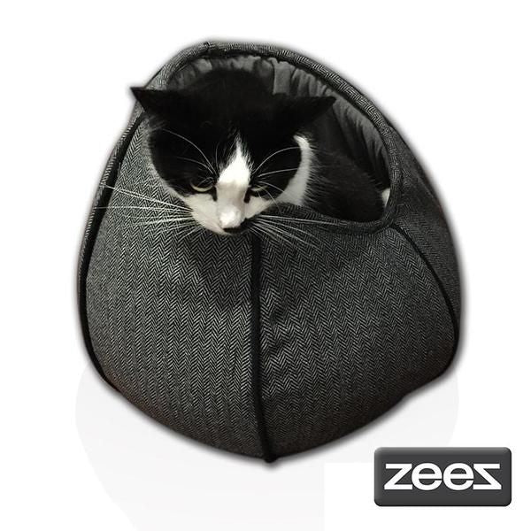 ZeeZ Cat Pod (Tweed Grey) | Singpet.Com