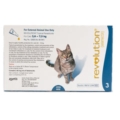 Revolution Flea & Heartworm Spot-on For Cats 2.6-7.5 kg (5.7-15.5 lbs), 3 Pack | Singpet.Com.Sg