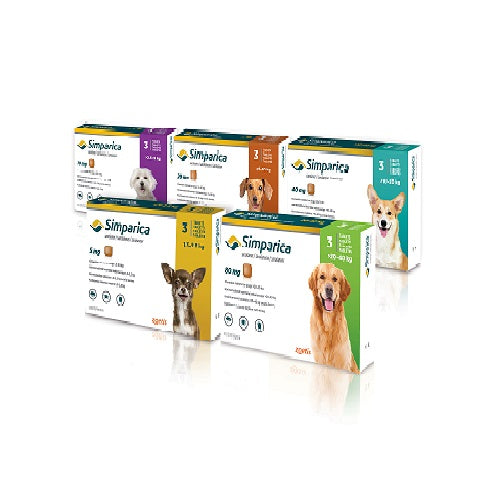 Simparica Chewable Tablets For Dogs